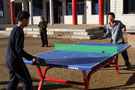 崭新的乒乓球台