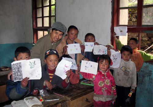 儿童撕纸贴画作品展示