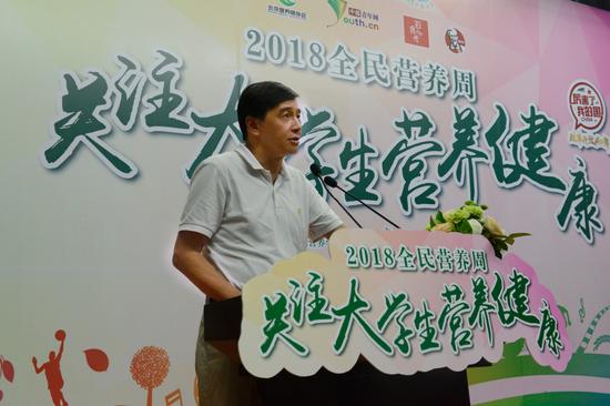 中国农大食品科学与营养工程学院院长胡小松致辞